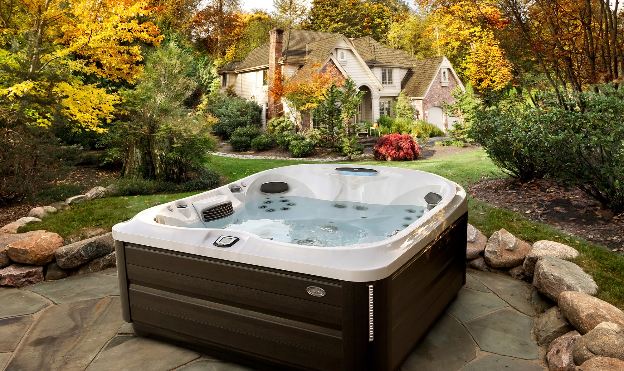 J-485 Hot Tub Installation in the Fall